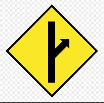 Logo officiel des MGTOW, Men Going Their Own Way. Un panneau de route, avec 2 choix, soit tout droit, soit prendre à droite, le chemin de la liberté