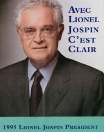 Lionel Jospin, affiche présidentielle de 1995. Pas vraiment un intellectuel