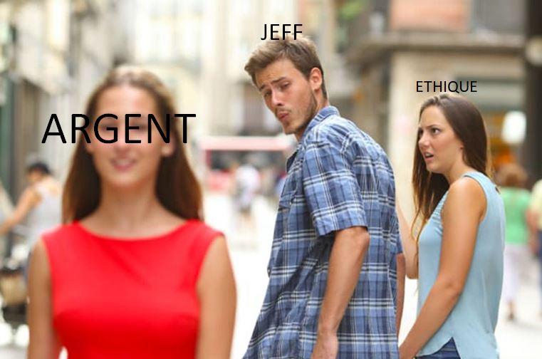 Jeff, CEO d'amazon, et l'argent