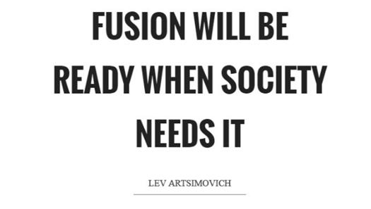 La fusion sera prête quand la société en aura besoin