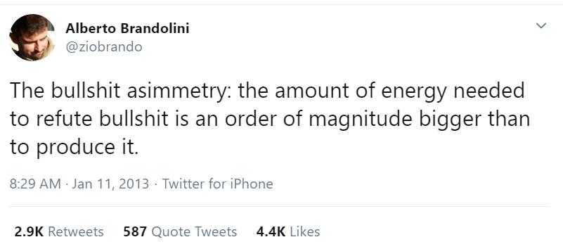 Loi de Brandolini : le tweet d'origine