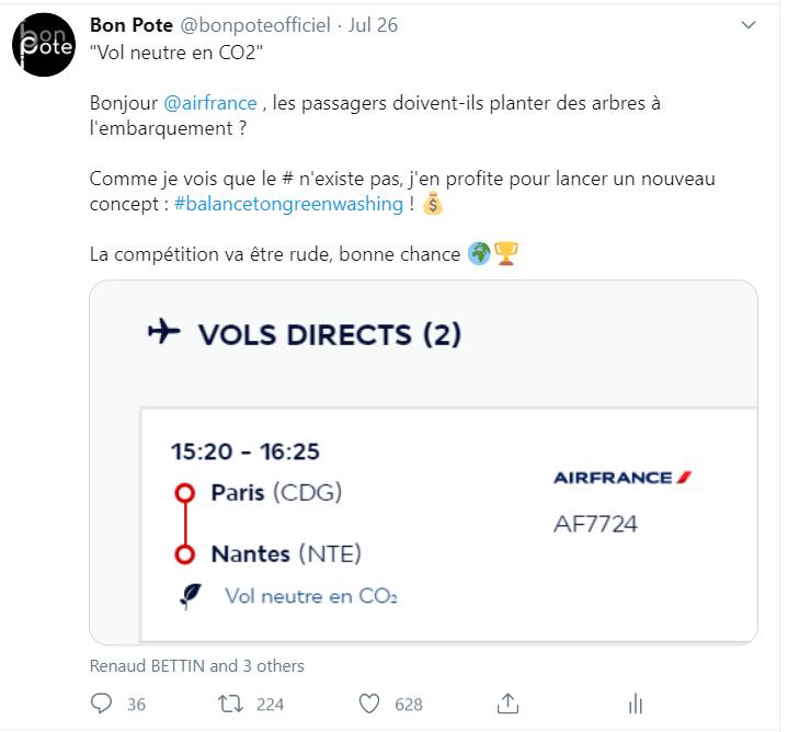 Loi de Brandolini et un tweet d'air France