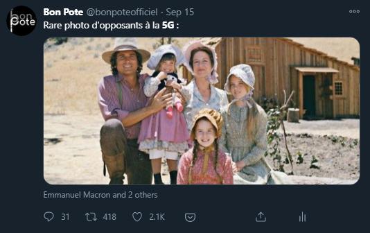 Tweet de Bon Pote sur les Amishs