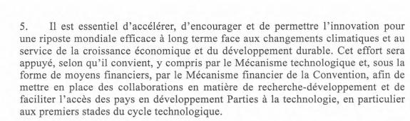Accord de Paris et la croissance