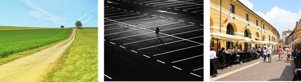 A la campagne ou à la ville, notre perception des distances et des temps de trajet change en fonction des environnements que nous devons traverser. Crédit photo: Pixabay.